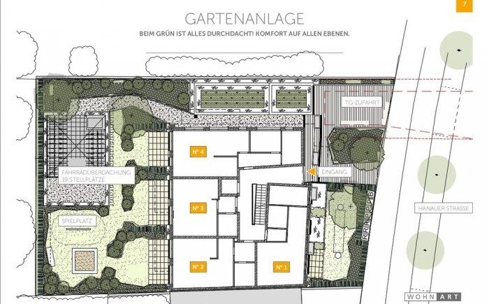 Grundriss Garten